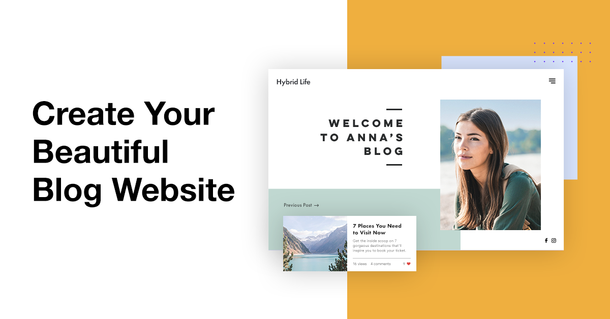 A personal blog website