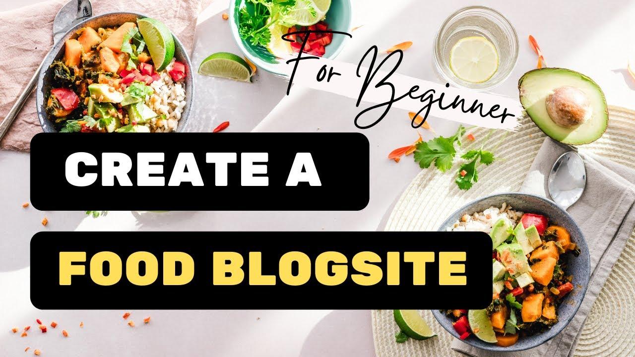 Create a food blog website