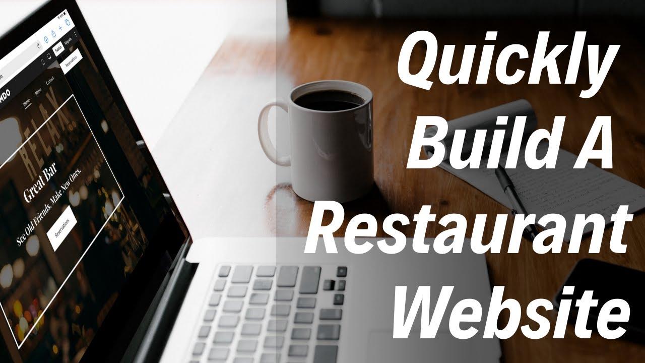 Make a restaurant website